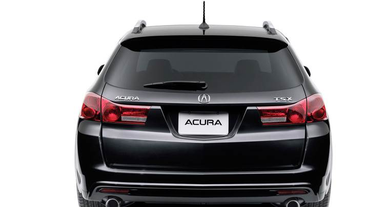 Back Pose Of 2011 Acura TSX Sport Wagon In Black